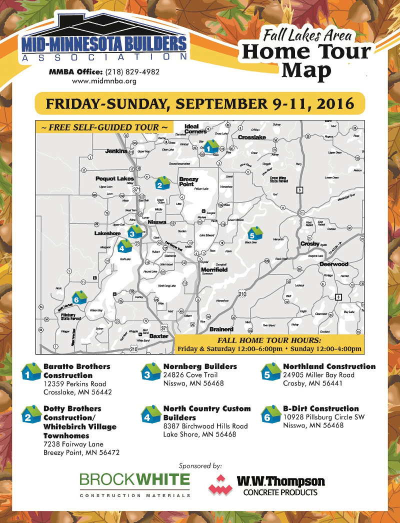 Fall Home Tour MAP